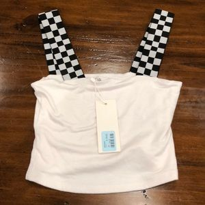NWT . Emma & Sam racecar strap tube top